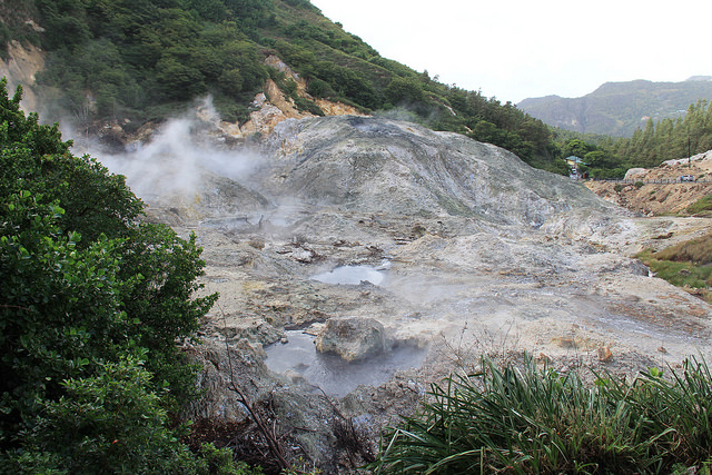 "St. Lucia hopes to generate up to 30 megawatts of electricity in Soufriere, home to Sulphur Springs, the ""world's only drive-in volcano"". Credit: Kenton X. Chance/IPS"
