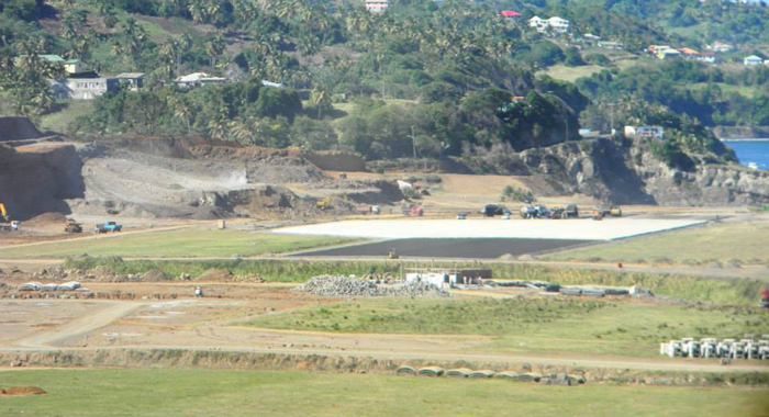 The northern turning head in the third kilometre of the airport runway. (Photo: Friends of AIA/Facebook)