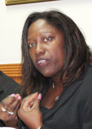 Lawyer Nicole Sylvester, president of the Human Rights Association.