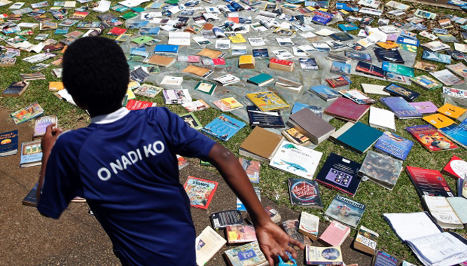 Weather Vanuatu Cyclone Pam March 18 2015 Drying Library Books