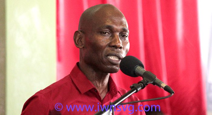 Sen. Jomo Thomas, the ULP candidate for South Leeward,. (IWN photo)