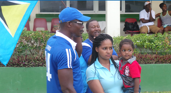 A look of disappointment on the faces of some of the St. Lucia supporters. (Photo: E. Glenford Prescott)