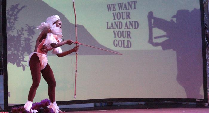 A scene from De Yonté's talent presentation. (IWN photo)