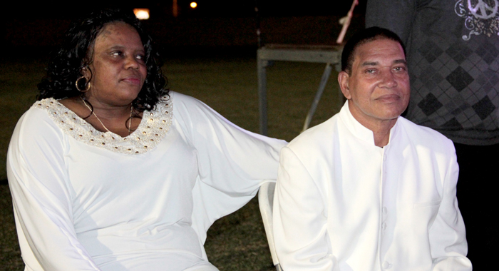 Felix and Monica Findlay prepare to perform at SVG Gospel Fest 2015. (IWN photo)