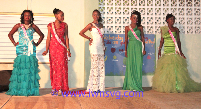 From left: Iesha Nanton, Miss Courageous; Cozelle Boucher, Miss Driven; Renelle Lavia, Miss Zealous; Shellicia Small, Miss Confident; and Cherissa Nero, Miss Ambitious. (Photo: Zavique Morris/IWN)