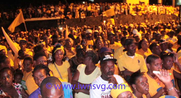 A section of the crowd at the election campaign launch.  (IWN photo)