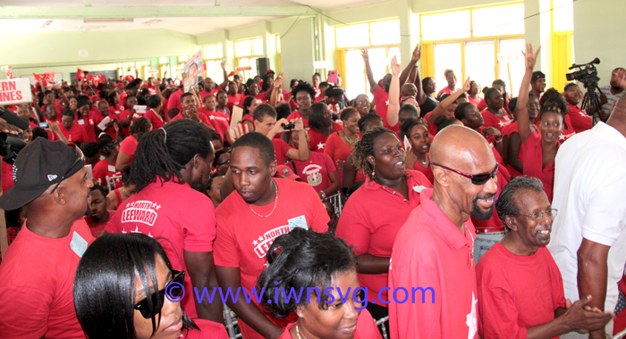 A section of the crowd at the ULP Youth Arm convention on Sunday. (IWN photo)