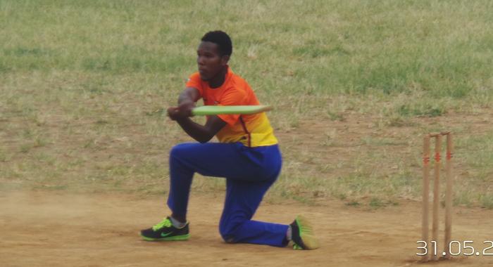 Sion Hill Tallawahs captain Shamic Roberts (56) counter attacking.