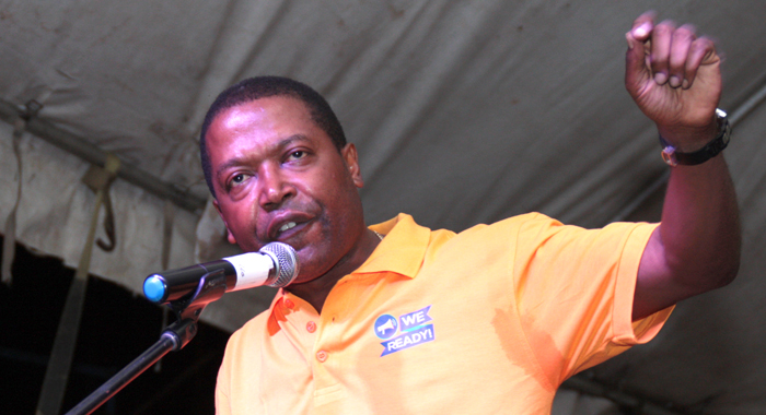 NDP candidate for Central Leeward, Ben Exeter. (Photo: Zavique Morris-Chance/IWN)