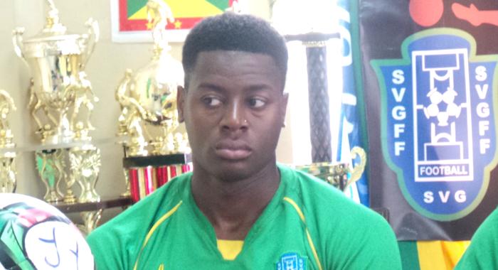 Vincentian striker Garvin James. (Photo: E. Glenford Prescott/IWN)