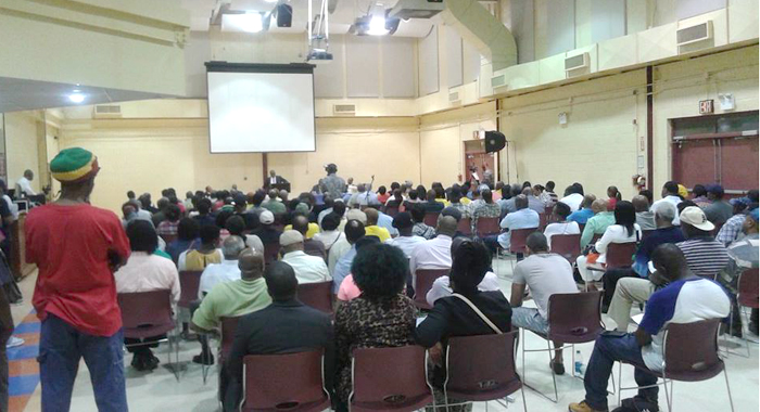 A section of the audience at the NDP's town hall meeting in New York.