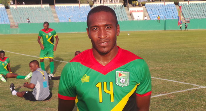 Shakes got Guyana's second goal. (Photo: E. Glendford Prescott)