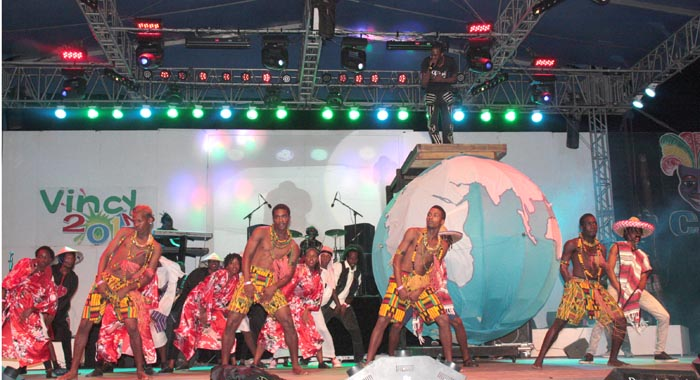 "A scene from Skinny's performance of ""Mash Up International"". (Photo: Zavique Morris-Chance/IWN)"