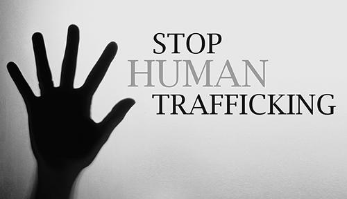 Stop Human Trafficking Bw