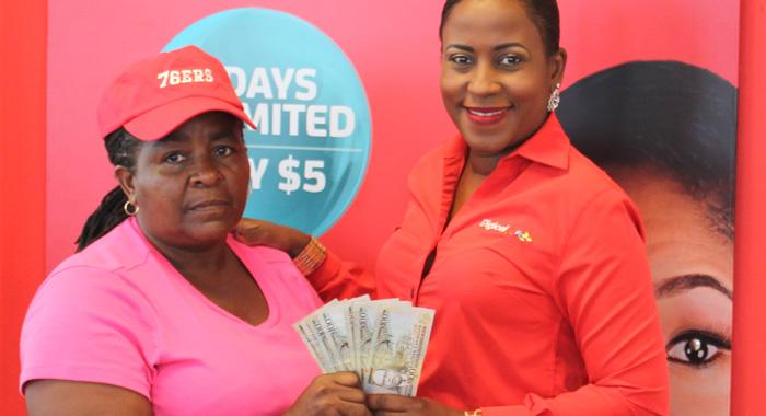 Commercial Manager Dionne Emtage Handsover 1000 To Winner Marlene Ash