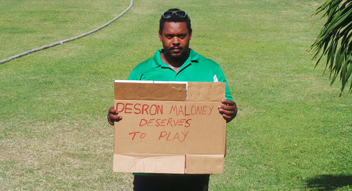 Rodger Gibson Protests The Exclusion Of Opener Desron Maloney