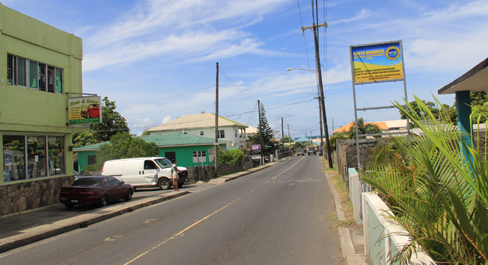 Several entertainment spots are located along this stretch of road in Arnos Vale. (IWN photo)