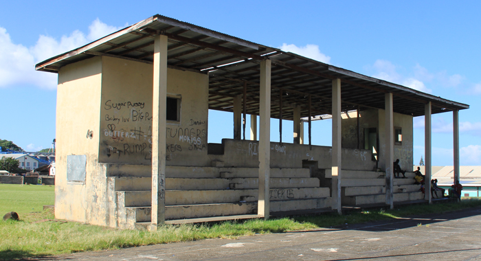 The dilapidated pavilion at Campden Park Playing Field. (IWN photo)