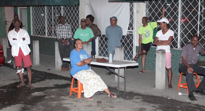 A small crowd turned out to the DRP's public  meeting in Arnos Vale on Thursday. (IWN photo)