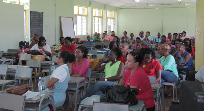 Teachers at the meeting on Wednesday. (IWN photo)