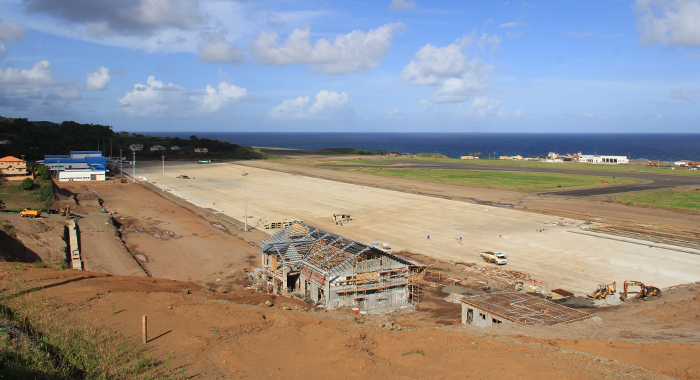 Argyle International Airport, seen here on Oct. 27, 2015, is slated to be completed by year-end. (IWN photo)