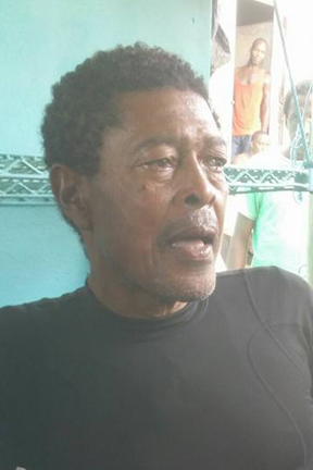 Owia fisherman Calvin Nanton after the ordeal.