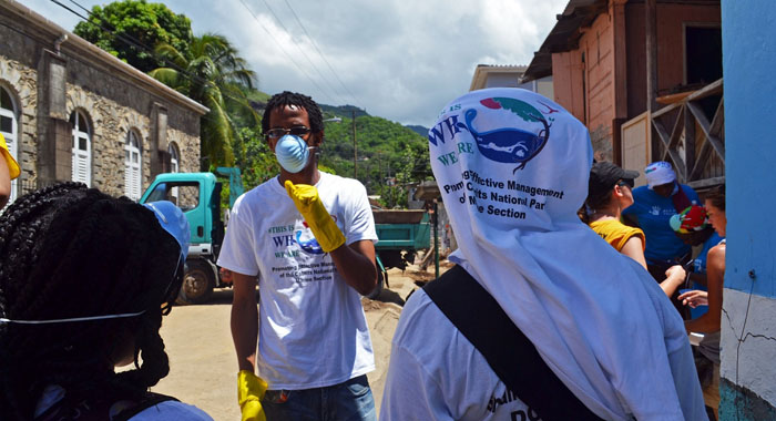 Dominica's campaign team organized clean-up efforts after Tropical Storm Erika hit the island in August 2015.