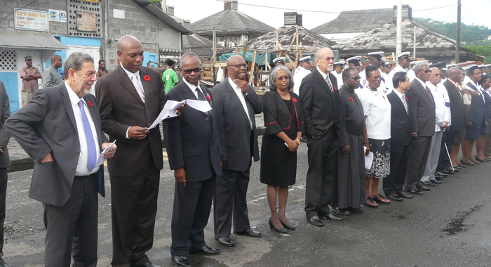 Government officials at the parade on Sunday. (Police photo)