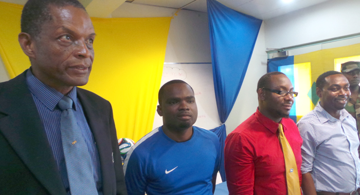 The chosen team. From left: Spring, Fraser and Jackson. (Photo: E. Glenford Prescott)