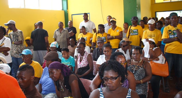 A section of the audience at Democrat House on Saturday. (IWN photo)