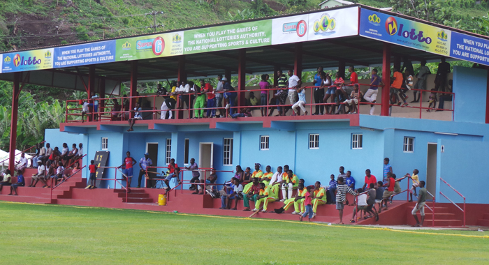 The stand at the Park Hill Playing Field, located in the Prime Minister's constituency, which, like Buccament Bay, is a rural district. (Photo: E. Glenford Prescott)