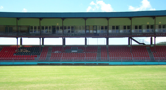 Hospitality boxes at Arnos Vale Sports Complex.