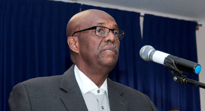 Leader of the Opposition and NDP President Arnhim Eustace brought the party's case to the court of public opinion Tuesday night. (IWN file photo)