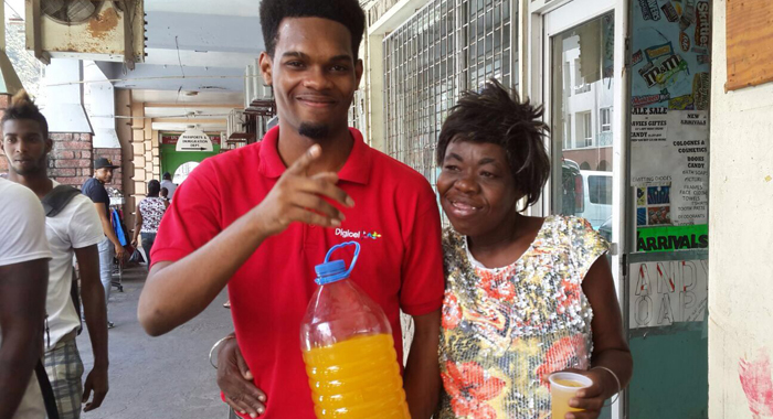 Digicel Call Centre Agent Spreading Real Care By Feeding The Homeless