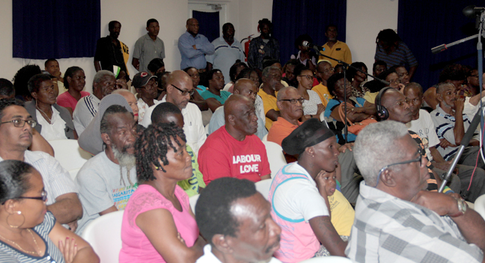 "A section of the audience at the NDP's ""People's Budget"" on Monday. (IWN photo)"