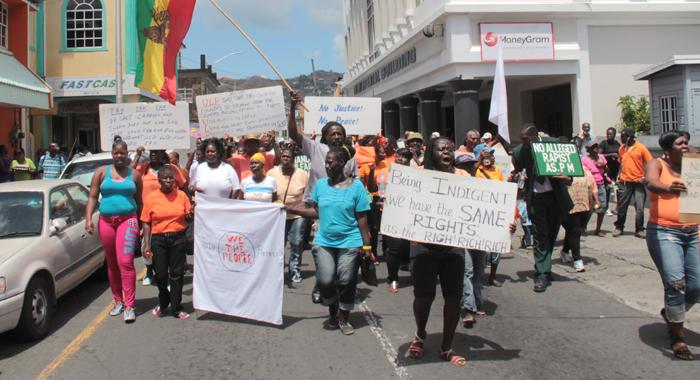 The protesters are demonstrating against the results of the Dec. 9 elections, which they say the ULP stole and the policies of the ULP government. (IWN photo)