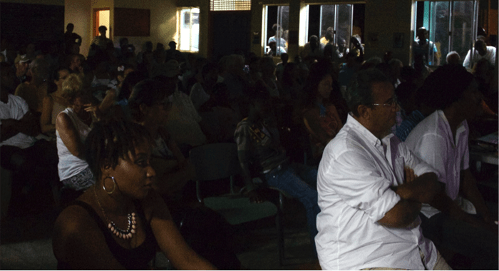 A section of the audience at the screening of the film last week.