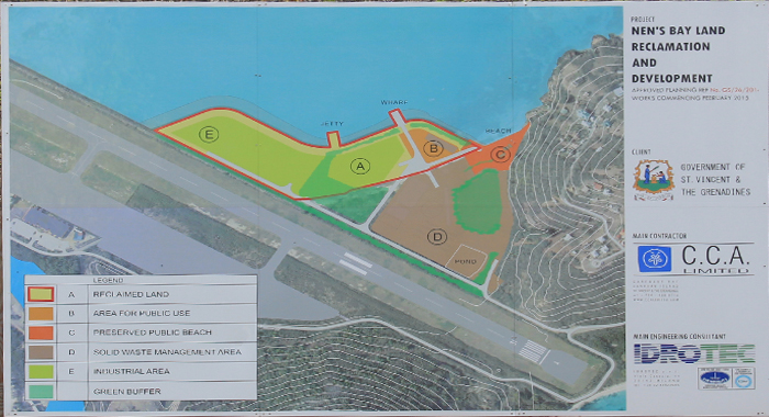 A plan of the area that is to be developed.  (IWN photo)