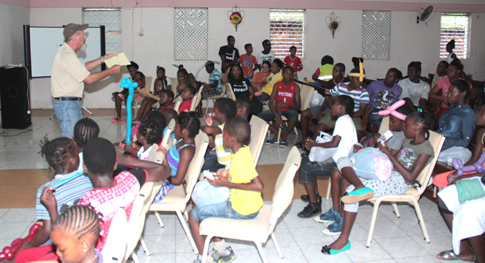 Child Evangelism Fellowship delivered the gospel lesson at Saturday's event. (Photo: Rillan Hill Nazarene Church)