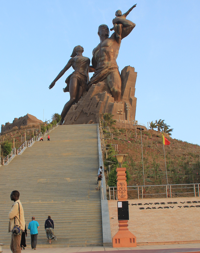 Senegal is home to Africa's tallest monument: The 49-metre African Renaissance, was built in North Korea, and is said to have cost US$27 million. (IWN photo)