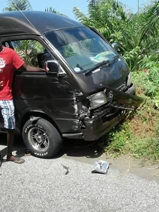 The third van that was involved in the accident. (Photo: Facebook)