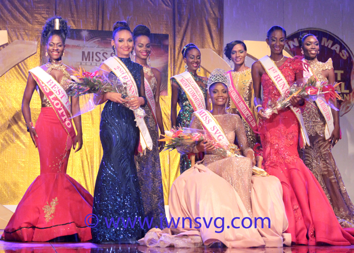 The contestants in the Miss SVG 2016 pageant. (IWN photo)