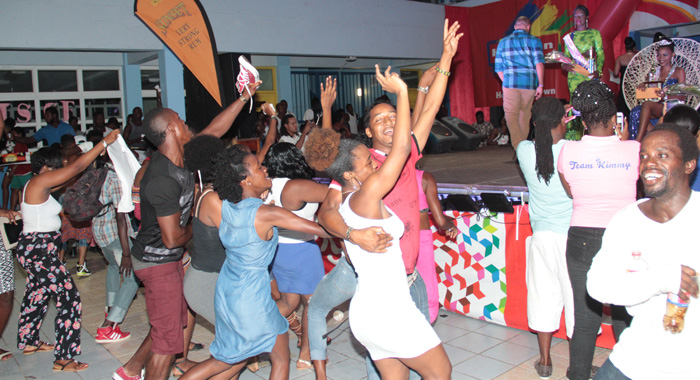 Celebration as Bowens is announced winner of the Pageant. (IWN photo)