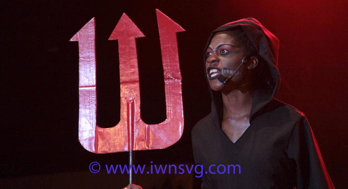 "Zenna Lewis' ""Message from Below"" moved the audience and massaged the judges' hearts in the talent category. (IWN photo)"