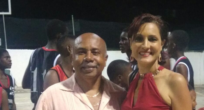 "Minister of Sports, Cecil ""Ces"" McKie, left, and President of the Bequia Association, Sabrina Mitchell."
