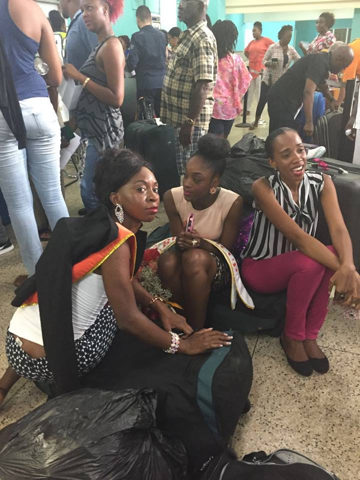 Miss Carival contestants and other travels in St. Vincent and the Grenadines, were affected by LIAT cancellations and delays last weekend. (Photo: Facebook)