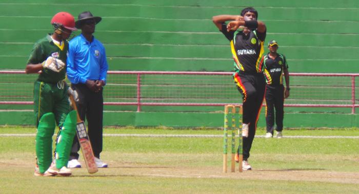 Loknauth Chinkoo took 3/32 for Guyana.