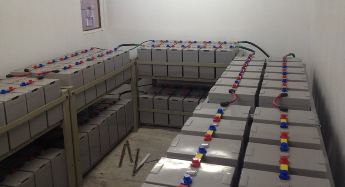 The battery bank.
