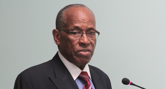 Minister of Foreign Affairs, Sir Louis Straker. (IWN file photo)