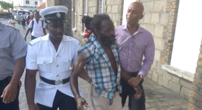 Police quickly apprehended the assailant. (IWN photo)